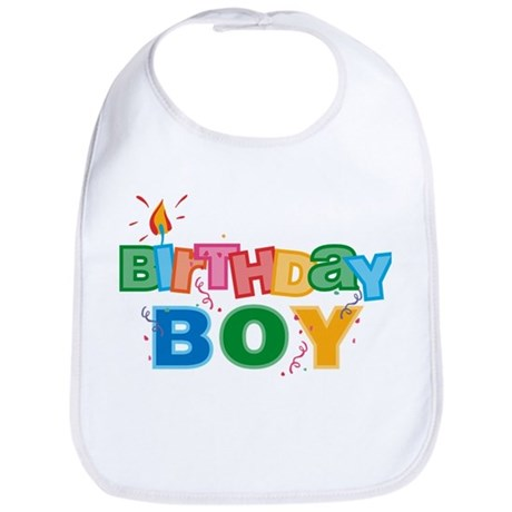 Birthday Boy Letters Bib