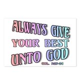 Give Best Unto God Postcards (Package of 8)