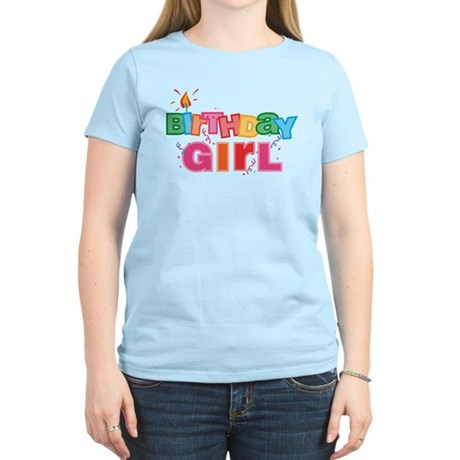 Birthday Girl Letters Women's Light T-Shirt
