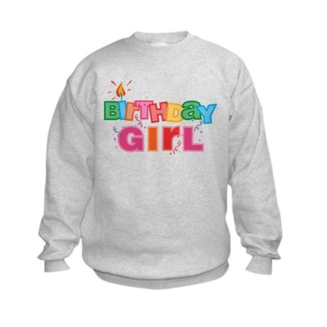 Birthday Girl Letters Kids Sweatshirt
