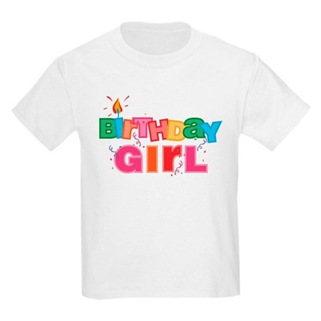 Birthday Girl Letters Kids Light T-Shirt