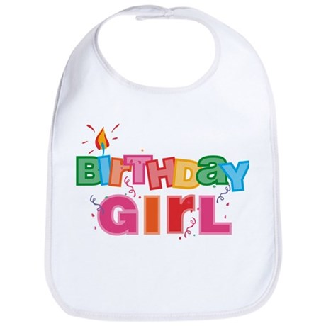 Birthday Girl Letters Bib