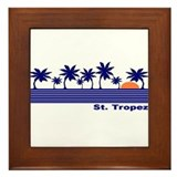 St. Tropez, France Framed Tile