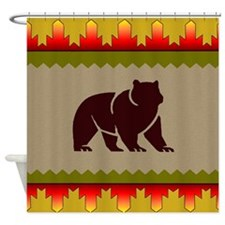 Woodland Bear Shower Curtain