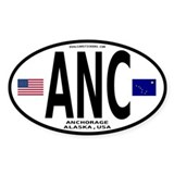 Alaska Euro Oval Sticker - ANC