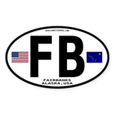 Fairbanks Alaska Euro Oval Sticker - FB