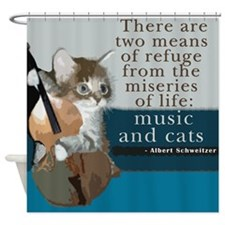 Cats and Music Shower Curtain