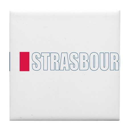 Strasbourg, France Tile Coaster