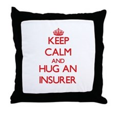 Keep Calm and Hug an Insurer Throw Pillow