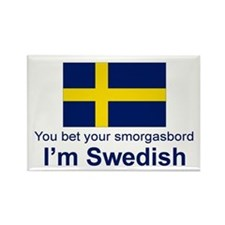 Swedish Smorgasbord Rectangle Magnet