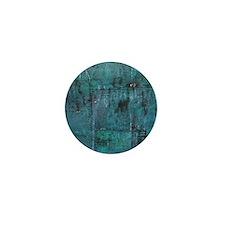 Blue rustic wood square textures Mini Button (10 p