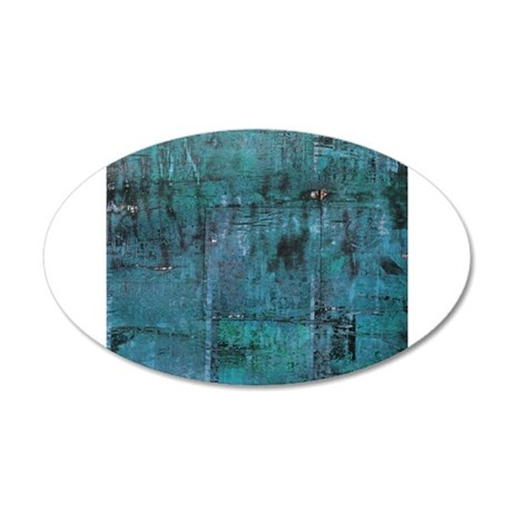 Blue rustic wood square textures Wall Decal
