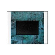 Blue rustic wood square textures Picture Frame