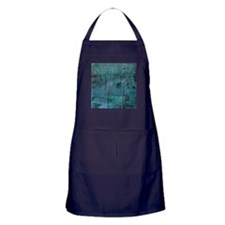 Blue rustic wood square textures Apron (dark)