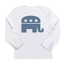 Republican Elephant PJ Blue Long Sleeve T-Shirt