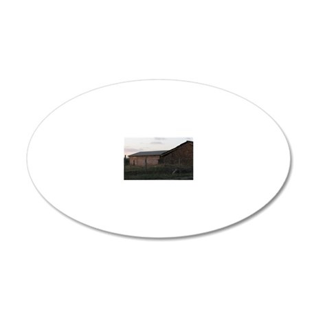 Adobe Farm House 20x12 Oval Wall Decal