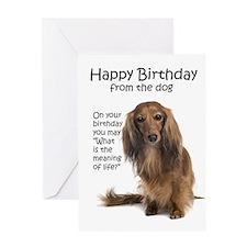 Funny Dachshund Birthday Greeting Card
