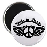 Ride in Peace II-bw Magnet