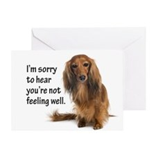 Dachshund Get Well Greeting Card