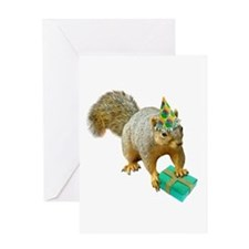 Birthday Squirrel Greeting Card
