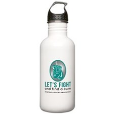 Lets fight ovarian cancer Water Bottle
