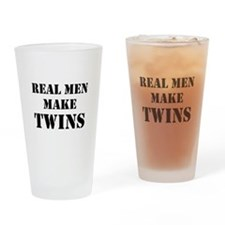 Real Men Make Twins Drinking Glass