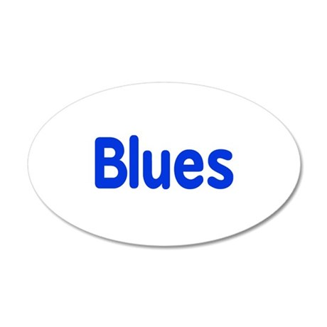 Blues word blue music design Wall Decal