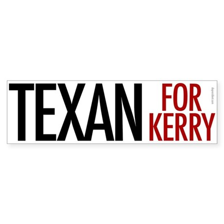 Texan for Kerry Bumper Sticker