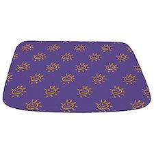 Golden Sunny Face On Purple Bathmat Bathmat