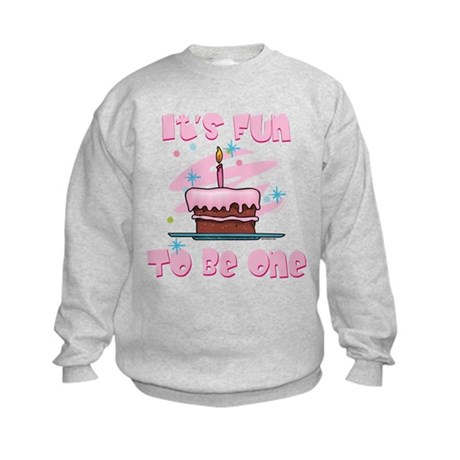 Fun To Be One Pink Kids Sweatshirt