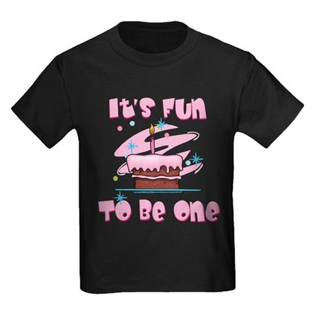 Fun To Be One Pink Kids Dark T-Shirt
