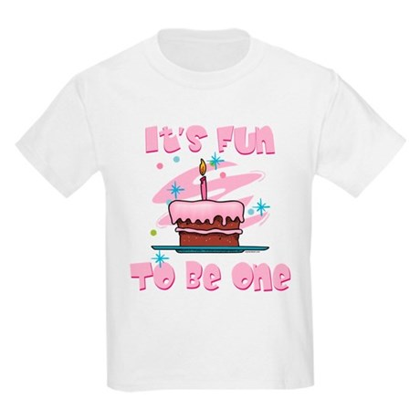 Fun To Be One Pink Kids Light T-Shirt