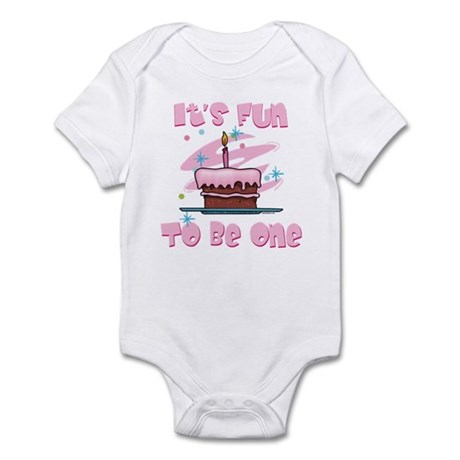 Fun To Be One Pink Infant Bodysuit