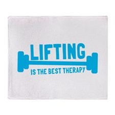 Lifting is the best therapy Throw Blanket