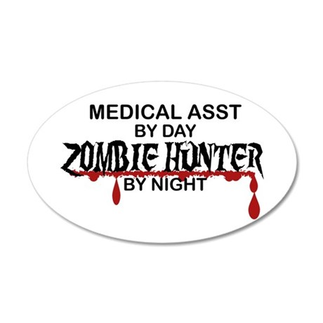 Zombie Hunter - Medical Asst 20x12 Oval Wall Decal