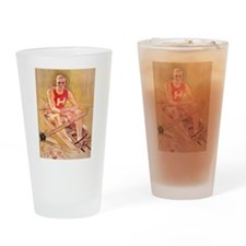 Vintage Rowing Portrait Drinking Glass