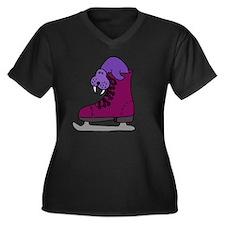 Walrus in Sk Women's Plus Size V-Neck Dark T-Shirt