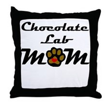 Chocolate Lab Mom Throw Pillow