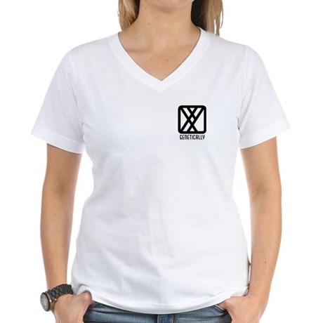 Genetically : Male Women's V-Neck T-Shirt