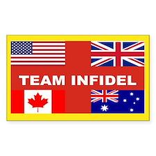 Team Infidel Bumpersticker Stickers