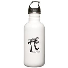Text Option Funny Pi Water Bottle