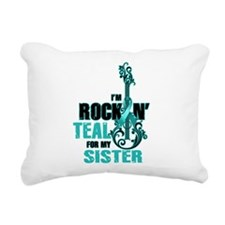 RockinTealFor Sister Rectangular Canvas Pillow