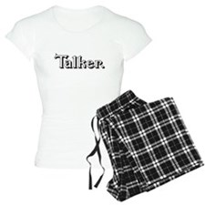Talker. (blk) Pajamas