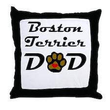 Boston Terrier Dad Throw Pillow