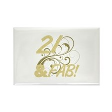21 And Fabulous (Glitt Rectangle Magnet (100 pack)