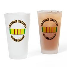 Vietnam Veteran - Service Medal Drinking Glass