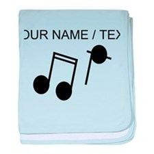 Custom Music Notes baby blanket
