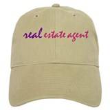 REAL Baseball Cap (purple & pink) for any Realtor