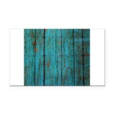 Teal nailed wood fence texture Rectangle Car Magne