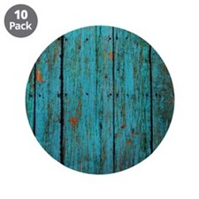 "Teal nailed wood fence texture 3.5"" Button (10 pac"